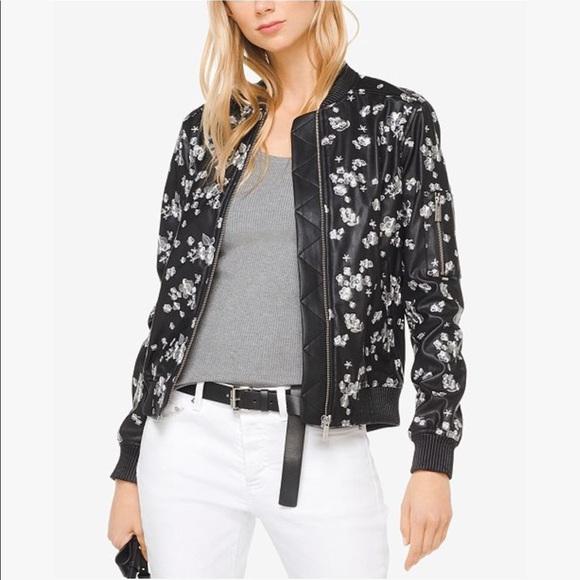 da3ba6df493e7 Michael Kors | Floral Embroidered Bomber Jacket. M_5b7cb30cd365be9c55dc88d4